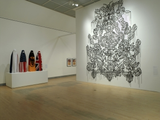 The Burqa Project: On the Borders of My Dreams I encountered My Double's Ghost, Brooklyn Museum gallery view