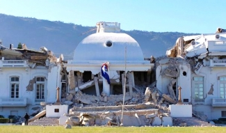 Epilogue Internet News Photo of Haiti's Palais Nationale in the aftermath of the January 2010 Port-au-prince Earthquake