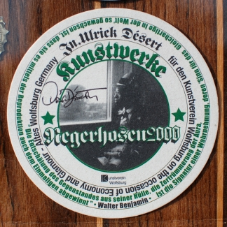 Negerhosen2000 / Bierdeckel Series, Nr.2 Walter Benjamin from Art in the Age of Mechanical Reproduction)
