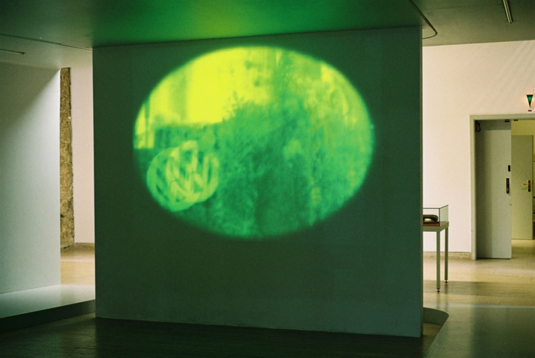 Suicidal Meditations(VW Factory Wolfsburg)2004, Video Projection, Schloss-Wolfsburg (Foto:C.Mucha)