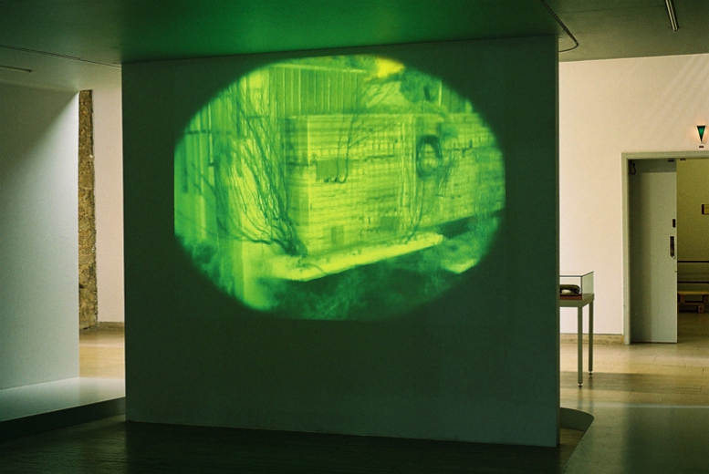 Suicidal Meditations(Palast der Republik Berlin)2004, Video Projection, Schloss-Wolfsburg (Foto:C.Mucha)