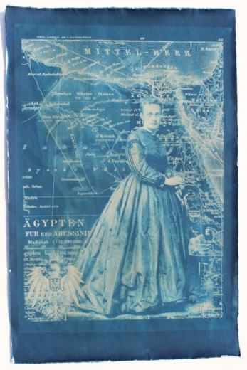 Mother Delta, handmade Cyanotype print on Bütten-Ingres paper