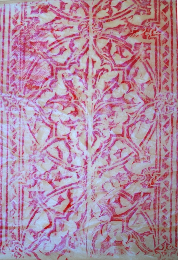 Meditations Rubbings, 2004, wax and acrylic-medium on velumn